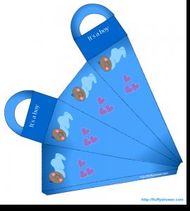 African-American baby boy shower favor bag