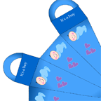 Caucasian Baby boy shower favor bag