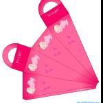 Free printable Caucasian girl baby shower printable bag