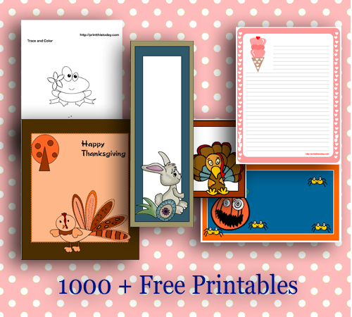 More than 1000 free printables