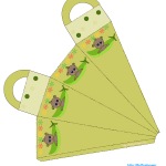 Free printable african-american pea pod baby shower favor bag