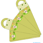 Caucasian pea pod baby shower favor bag printable