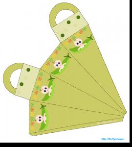 Caucasian pea pod baby shower favor bag printable