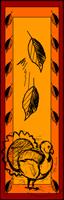 turkey and autumn leaves