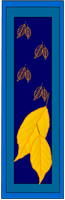 Bookmarks with autumn leaves