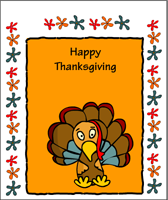 Funky thanksgiving card to print