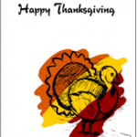 Colorful Happy Thanksgiving Card