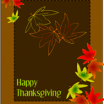 Happy Thanksgiving Card with Maple leaves