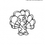 Cute turkey free printable coloring Page