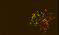Place Card with Autumn Maple leaves