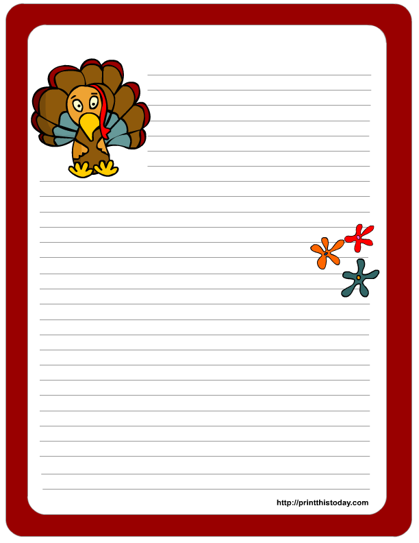 Free printable thanksgiving stationery for Thanksgiving letterhead