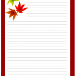 Thanksgiving stationery printable with maple leaf