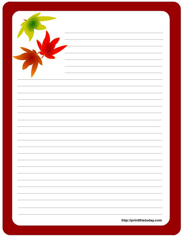 free printable thanksgiving stationery