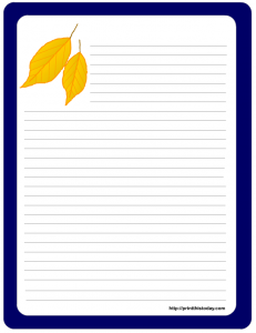 Autumn leaves stationery