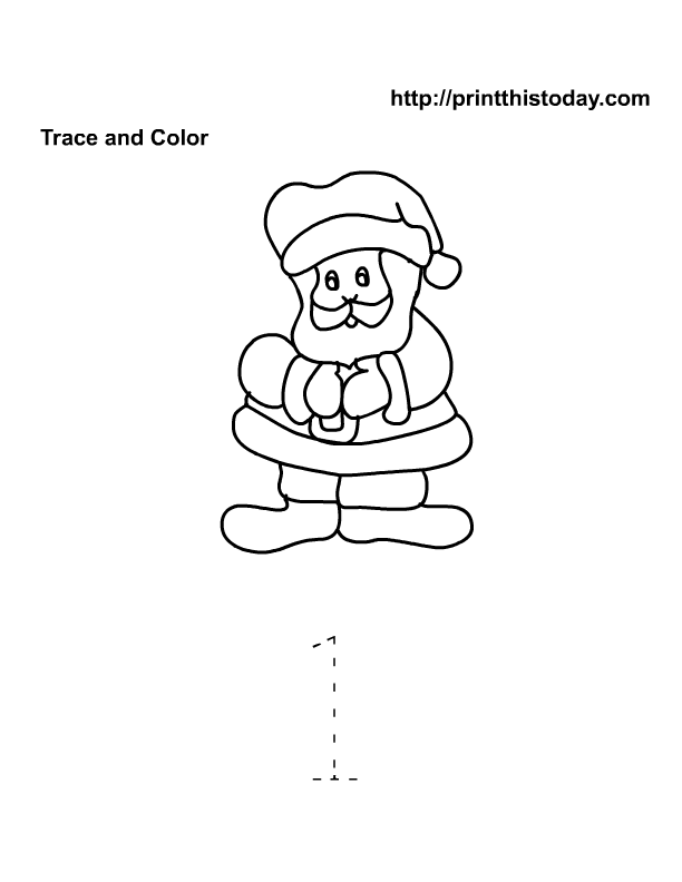 santa math worksheet number 1