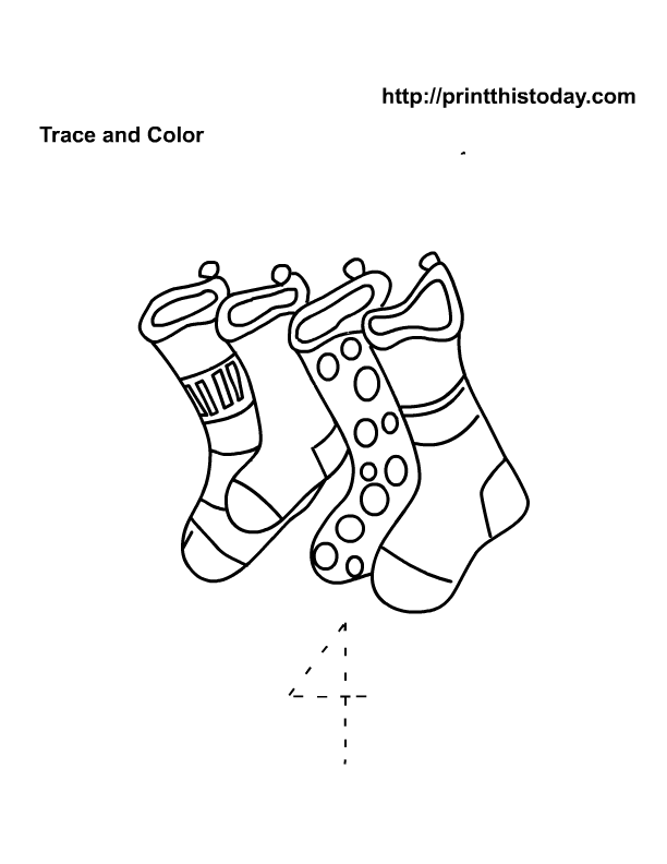 free printable number 4 tracer worksheet - Color Number Winter Worksheets