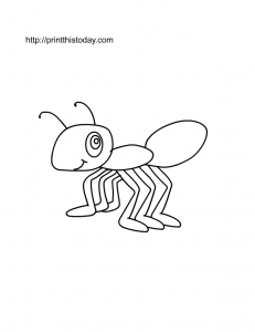 free printable ant coloring page for kids