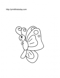 a spring butterfly to color