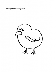 free printable cute chick coloring page