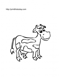free printable cow coloring page for kids