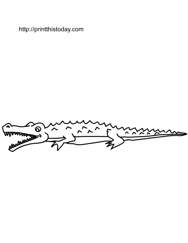 crocodile coloring page free - Crocodile Coloring Pages Print