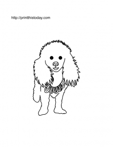 free printable dog coloring page