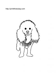free printable dog coloring page