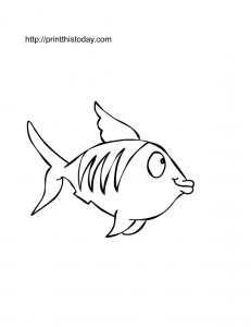 A fish to color in many colors