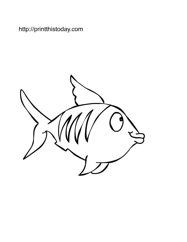 Free Printable Fish To Color
