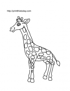 A cute giraffe to color