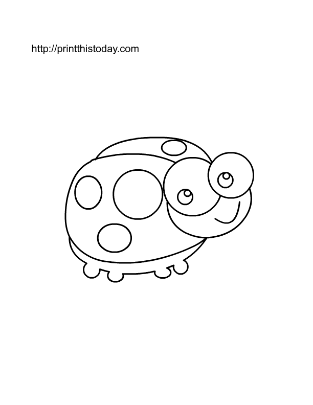 Cute Ladybug To Color