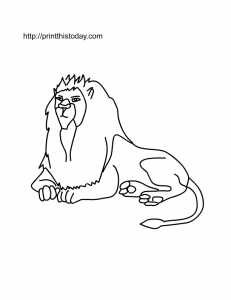 Free Printable Lion Coloring Page
