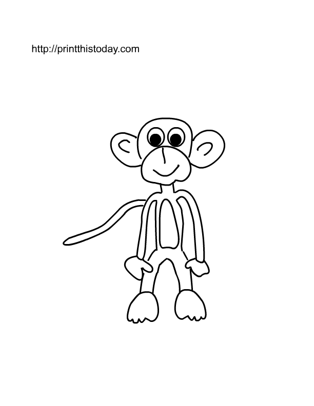 funny looking monkey to color