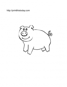 pig coloring page to download