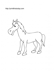 free printable pony picture to color