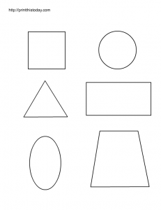 shapes to color, worksheet for preschool