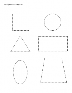 Shapes tracing worksheet for preschool
