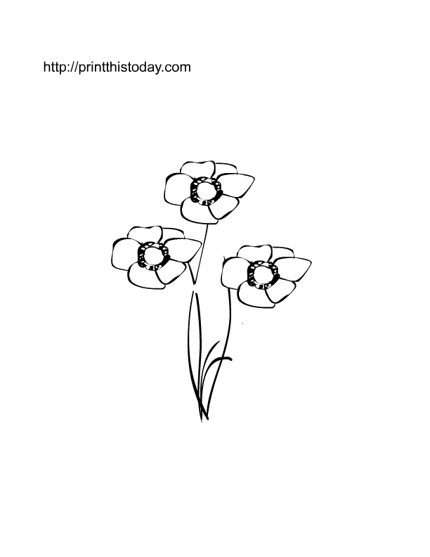 Free printable spring flowers coloring pages mightylinksfo
