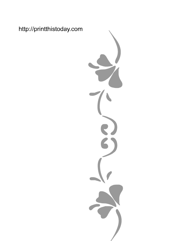Wall stencils for Wall art templates free