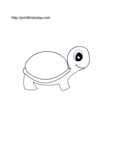 free printable page with a pet turtle