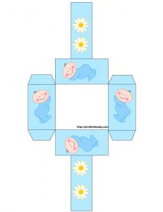free printable baby shower favor basket in blue