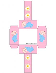 free printable baby shower favor baskets blue