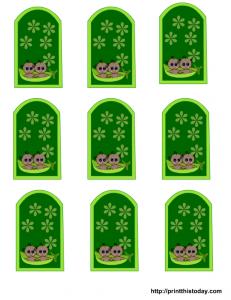 free printable pea pod baby shower favor tags