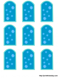 winter baby shower favor tags printable templates