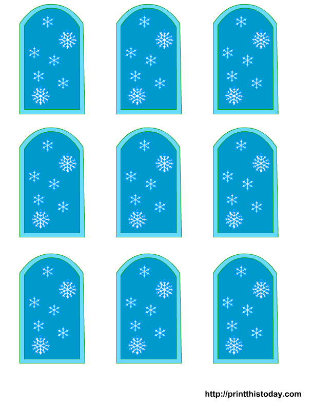Free Winter Baby Shower Favor Tags templates