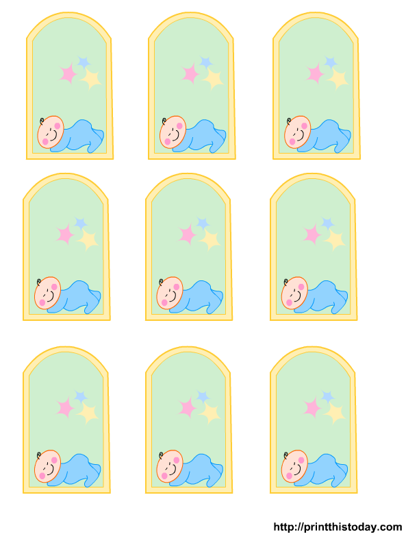 Free Printable baby girl, boy Baby Shower Favor Tags