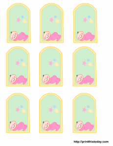 free girl baby shower favor tags