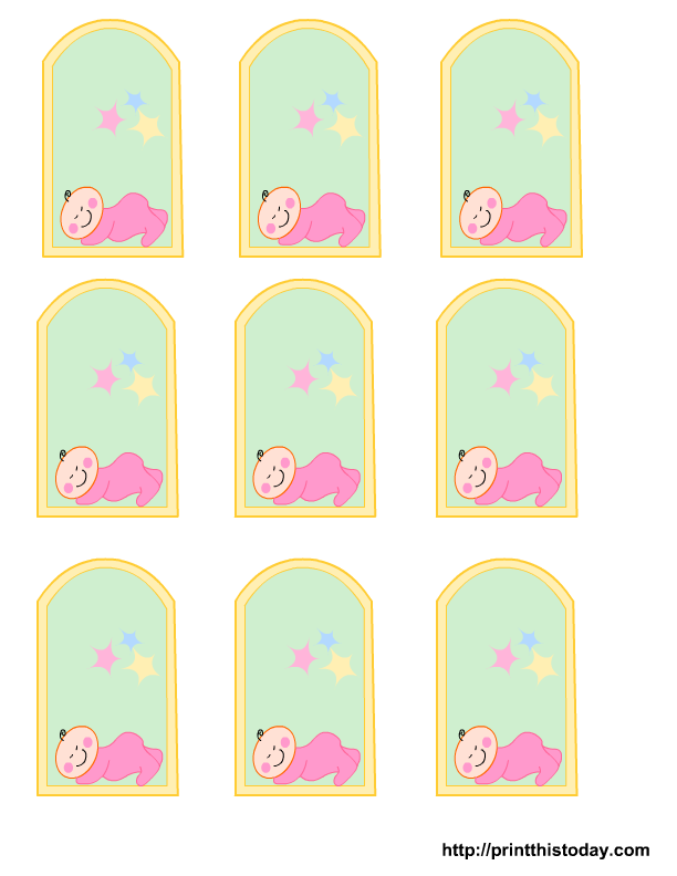 free printable baby shower favor tags template - free printable baby girl boy baby shower favor tags