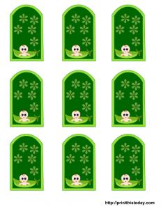 pea pod baby shower tags free printable templates