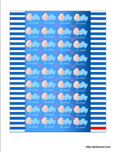 Free printable candy wrapper for baby boy shower